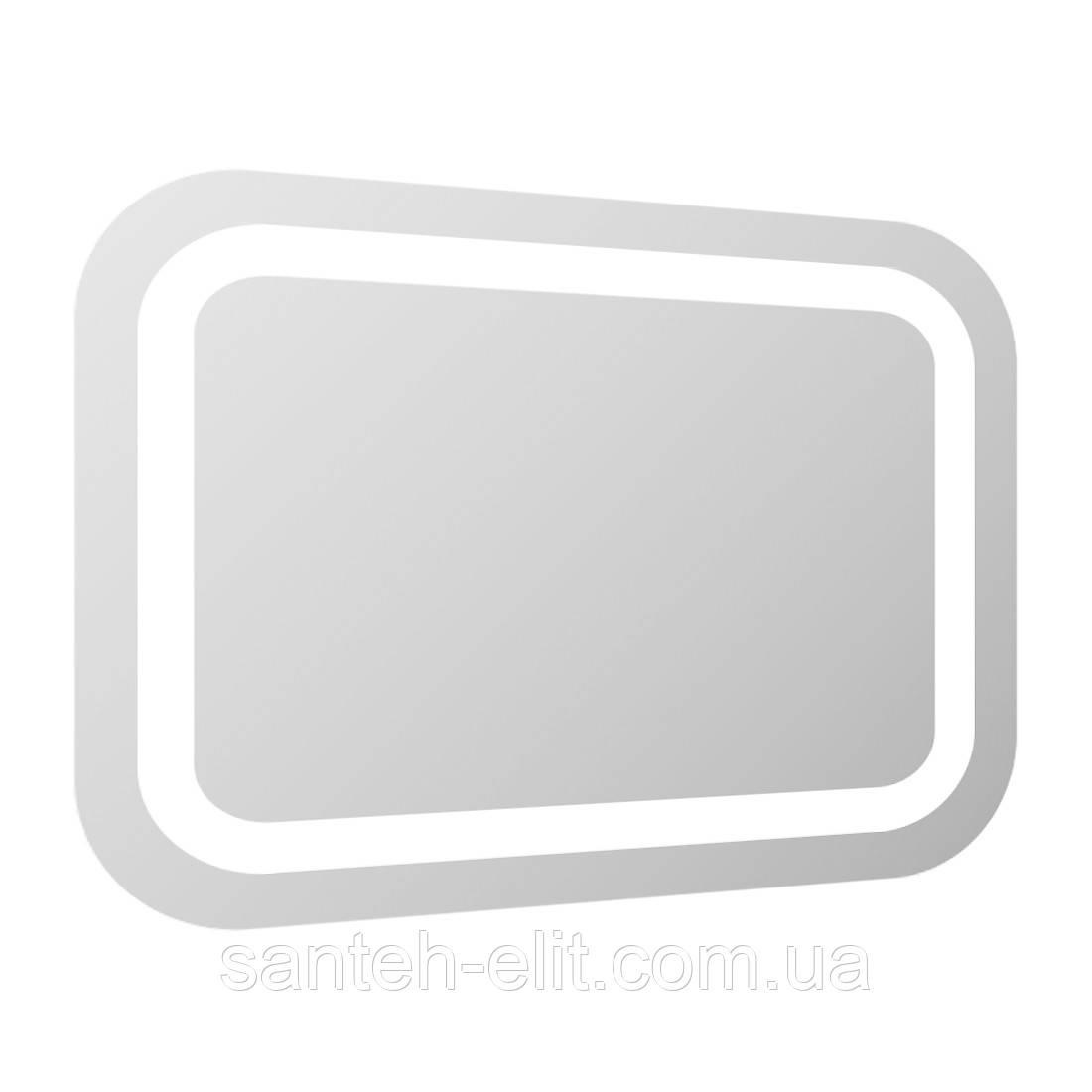 Зеркало прямоугольное 100*70см со светодиодной подсветкой, с сенсорным выключателем