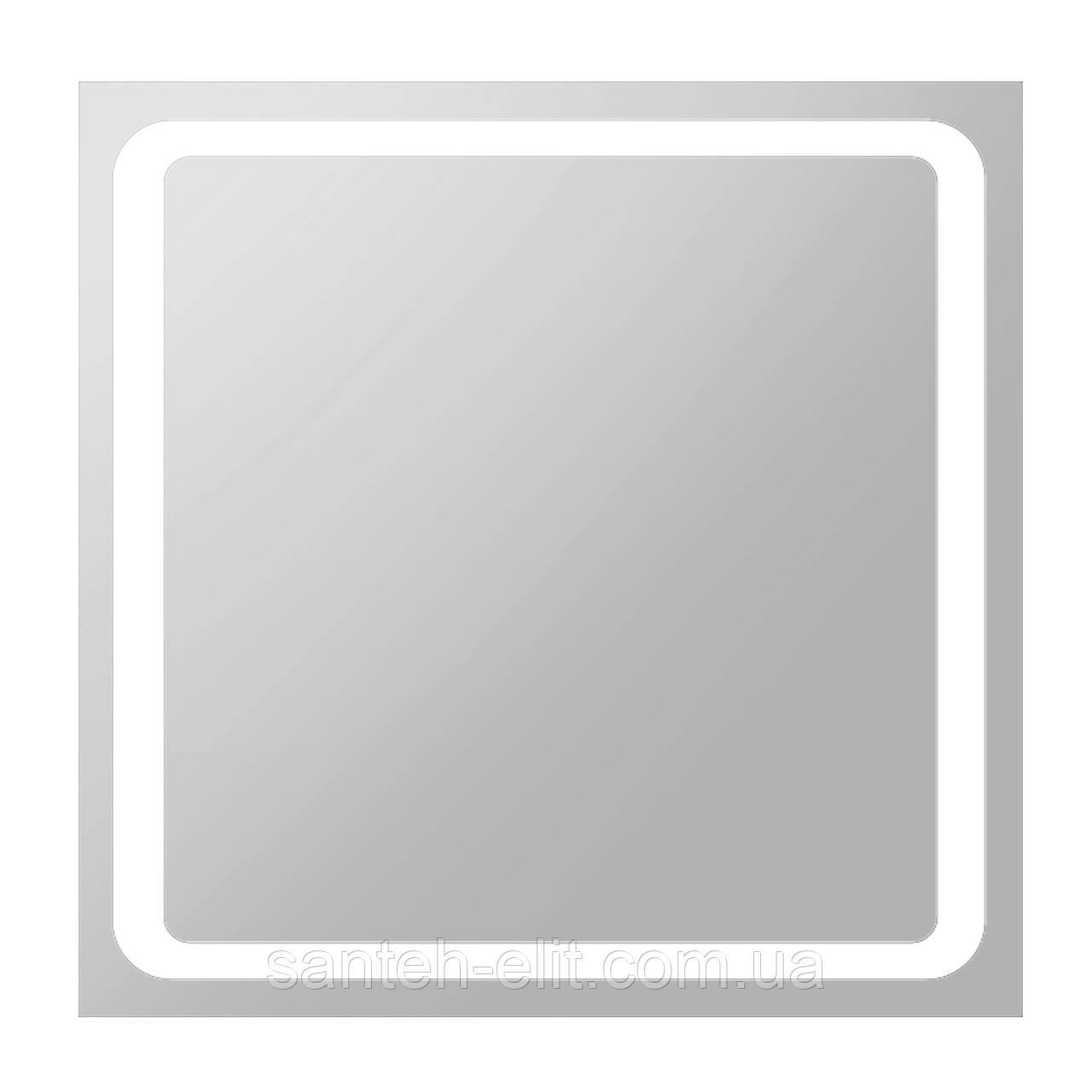 Зеркало квадратное 80*80см со светодиодной подсветкой
