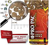 Сухий корм для собак великих порід Pro Pac DOG Large Breed Adult Chicken & Brown Rice Formula 20 кг, фото 2