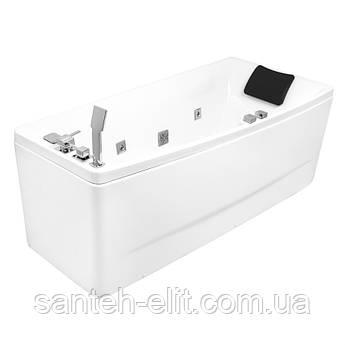 Ванна 170*75*63см, асимметричная, гидромассажная, правая
