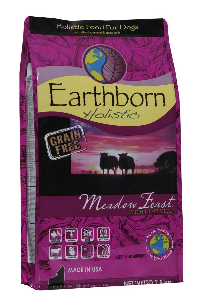 Сухой корм для собак Earthborn Holistic Meadow Feast with Lamb Meal с ягненком 2,5 кг