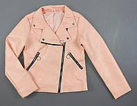 {есть:146,152,158} Куртка косуха кожа для девочек,  Артикул: ALL51-розовый [146], фото 1