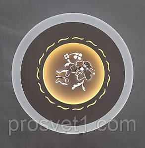 Светильник светодиодный круглый белый настенный (G193 24W)