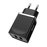 Зарядное устройство HOCO C43A Vast Power Charger 2USB/2,4 A Black