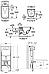Комплект: GAP Rimless унитаз подвесной с сиденьем с микролифтом + PRO инсталяция для унитаза + клавиша смыва, фото 2