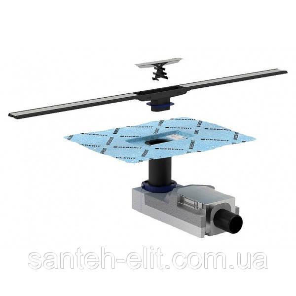 Комплект Geberit CLEANLINE: набор для дренажных каналов + дренажный канал, высота стяжки 65-90мм