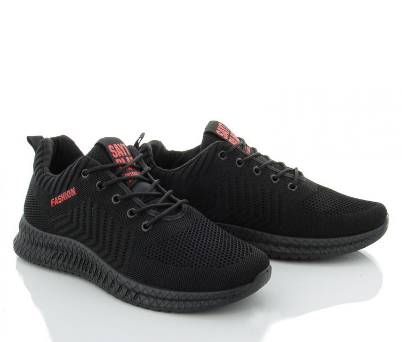 Мужские сетчатые молодежные кроссовки черные летние 40 р. - 26 см SAYT 1180481973