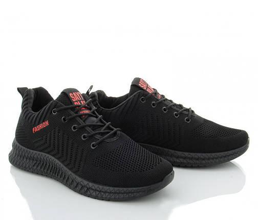 Мужские сетчатые молодежные кроссовки черные летние 40 р. - 26 см SAYT 1180481973, фото 2