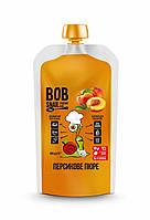 Персиковое пюре без сахара Bob Snail 400г