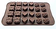 Форма силиконовая для конфет LOVE 24 ячейки