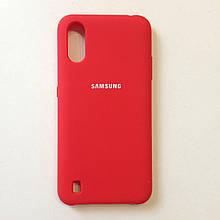 Чохол для Samsung A01 Silicone Case Red