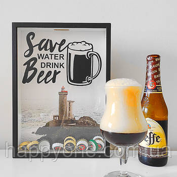 Копилка для крышек от пива Save water, drink beer