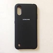Чехол для Samsung A01/М01 Silicone Case Black