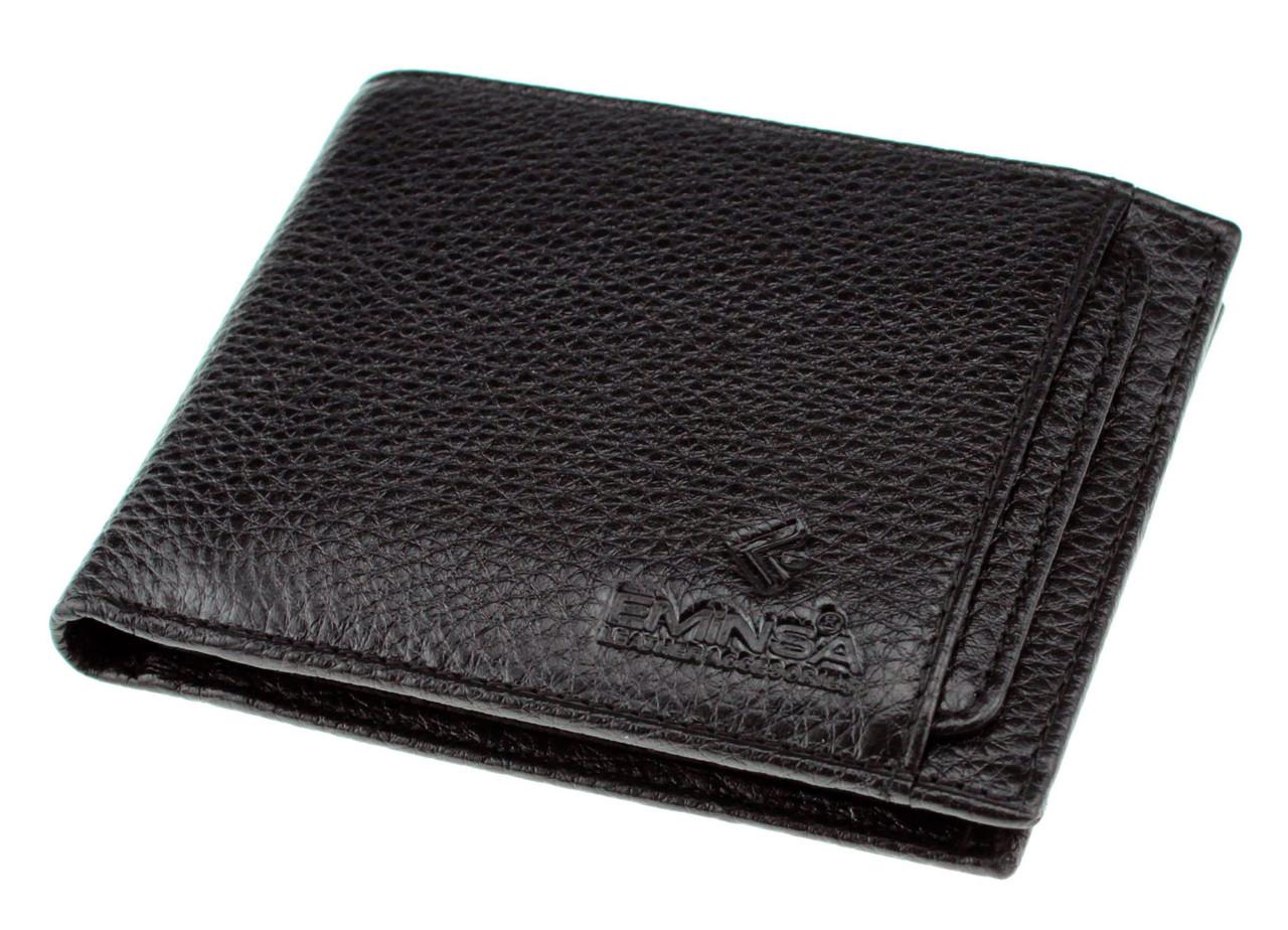 Мужской кошелек Eminsa 1116-18-1 кожаный черный