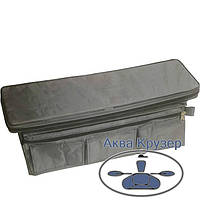 Мягкие сидения накладки 650х200х50 мм с сумкой рундуком для надувных лодок ПВХ, цвет серый, фото 1