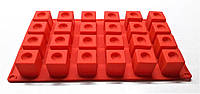 Силиконовая форма кубик с выемкой на 24 ячейки, фото 1