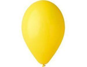 Воздушный шар без рисунка 30 см желтый