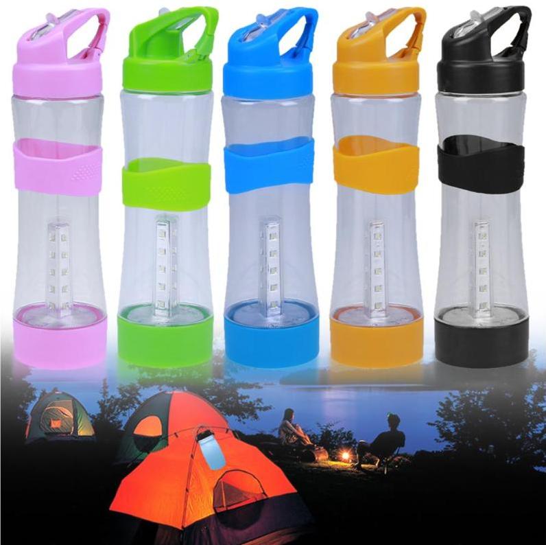 Бутылка для воды + ЛЭД фонарь 2 в 1 зарядка USB. Оптом и в розницу