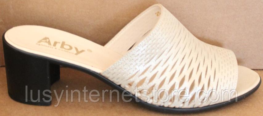 Сабо кожаные женские на каблуке от производителя модель БР5000-1Н