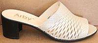 Сабо кожаные женские на каблуке от производителя модель БР5000-1Н, фото 1