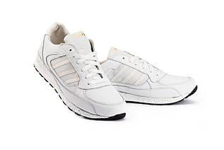 Жіночі кросівки шкіряні весна/осінь білі Yuves 85