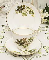 Английская чайная тройка, чашка, блюдце и тарелочка, костяной фарфор, Англия, Duches, фото 1