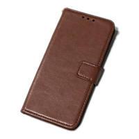Чехол книжка для телефона Xiaomi Redmi 8 коричневый