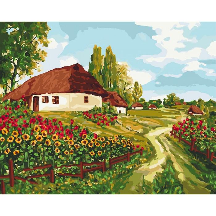 Картина за номерами Українськими доріжками 40 х 50 см ТМ Ідейка КНО2277