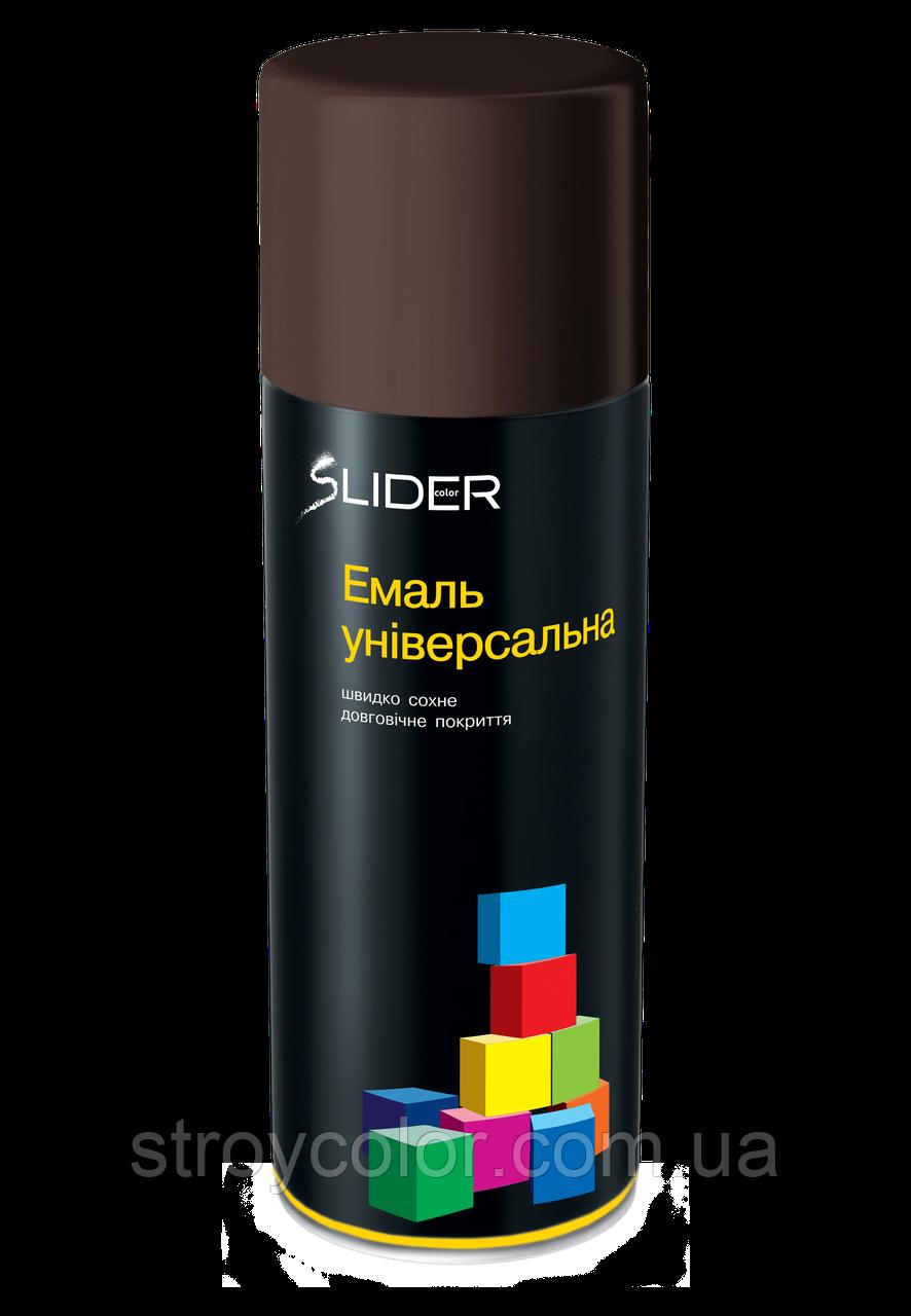 Эмаль-спрей Темно-коричневая RAL 8017 универсальная Lider 400мл (Аэрозольная краска Slider)