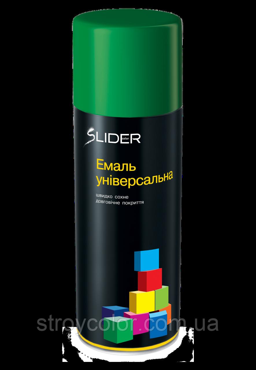 Эмаль-спрей Зеленая RAL 6029 универсальная Lider 400мл (Аэрозольная краска Slider)