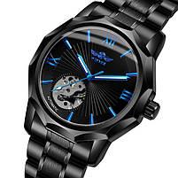 Наручные часы мужские Winner Concept H199 Black брендовые стальные механические, фото 3