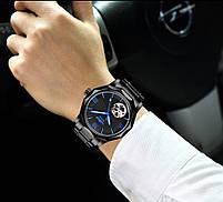 Наручные часы мужские Winner Concept H199 Black брендовые стальные механические, фото 8