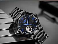 Наручные часы мужские Winner Concept H199 Black брендовые стальные механические, фото 9