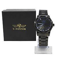 Наручные часы мужские Winner Concept H199 Black брендовые стальные механические, фото 10