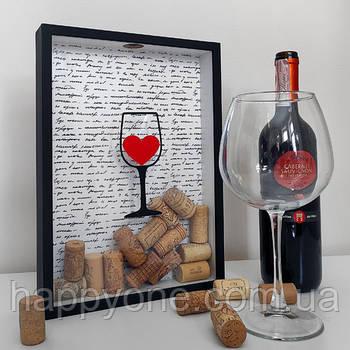 Копилка для винных пробок I like wine