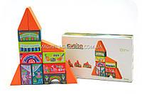 Деревянный конструктор домик Cubika(Кубика) 12367. Деревянные эко игрушки, фото 1