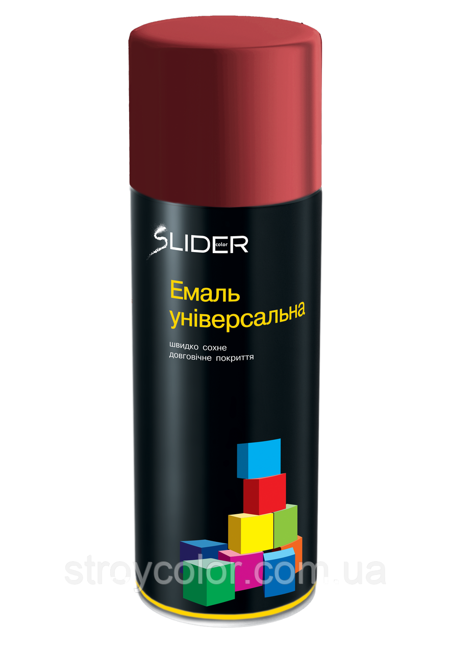 Эмаль-спрей Вишневая RAL 3011 универсальная Lider 400мл (Аэрозольная краска Slider)