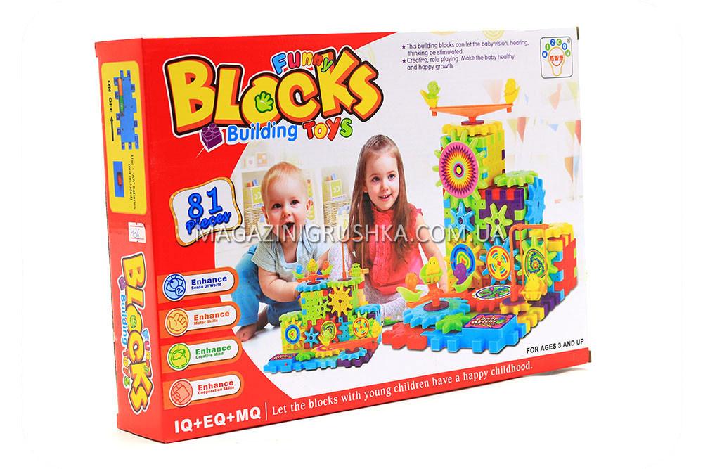 Koнcтpуктop Funny blocks на шестеренках 1224