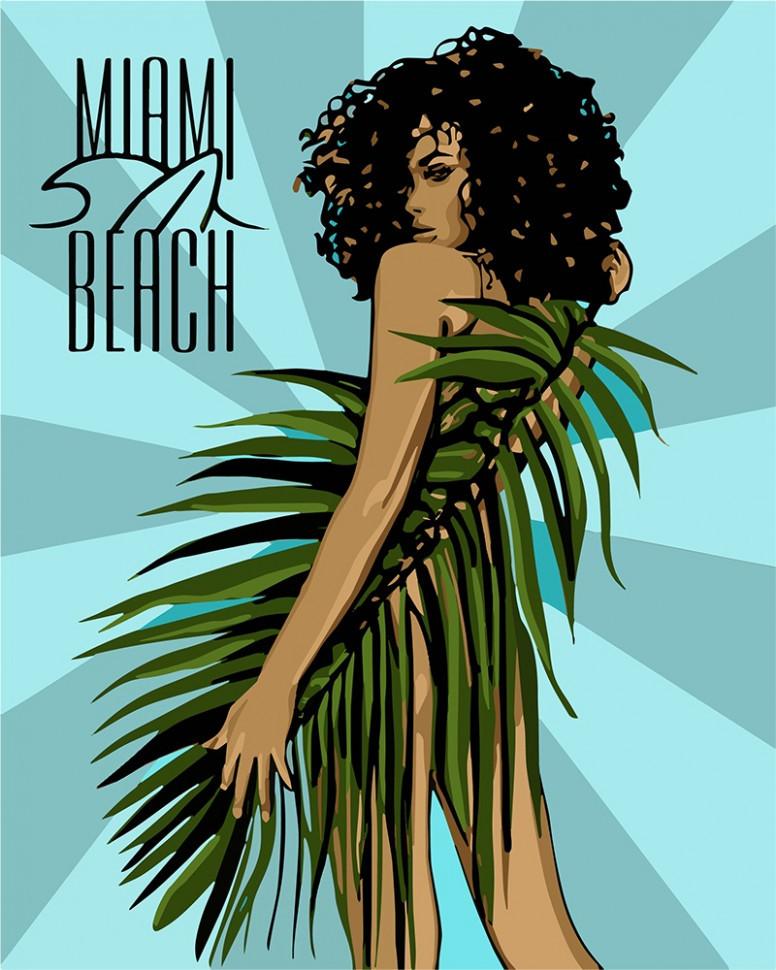 """Картина по номерам. """"Miami Beach"""" 40*50см KHO4699"""