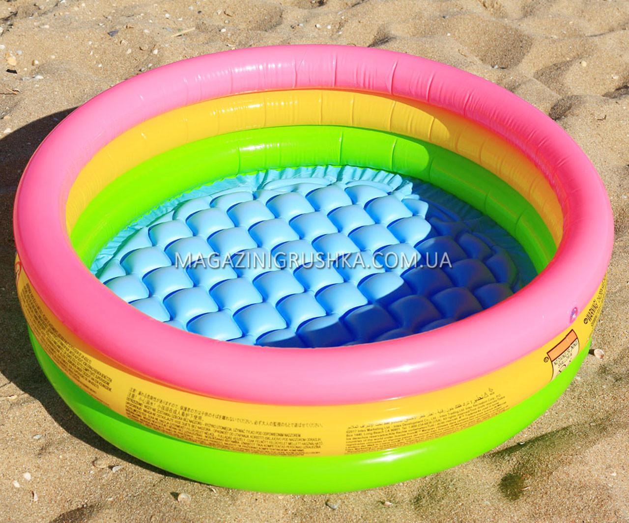 Бассейн надувной для детей Радуга Intex 58924