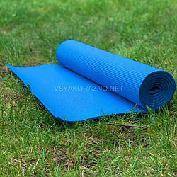 Коврик для йоги и фитнеса / Килимок для йоги та фітнесу 173 x 60 x 0,6 см (голубой)