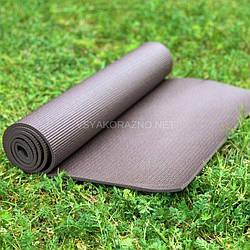 Коврик для йоги и фитнеса / Килимок для йоги та фітнесу 173 x 60 x 0,6 см (коричневый)
