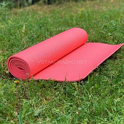 Коврик для йоги и фитнеса / Килимок для йоги та фітнесу 173 x 60 x 0,6 см (коралловый)