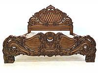 Ліжко дубове різьблене 160*200см - кровать дубовая резная