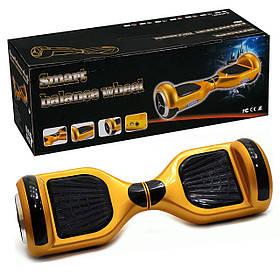 Гироскутер А 3-4/772-А3-4 Classic золотой, колёса диаметром 6,5 дюймов, Bluetooth, свет, в сумке