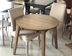 Обідній стіл в скандинавському стилі Женова розкладний 900 GOOD WOOD , покриття масло