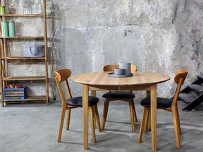 Обеденный стол в скандинавском стиле Женова раскладной 900 GOOD WOOD Рускополянский Мебельный Комбин, фото 2