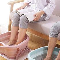 Складна ванночка для ног с массажером Лавандовая, фото 2