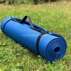 Коврик для йоги и фитнеса / Килимок для йоги та фітнесу 173 x 60 x 1 см (синий)