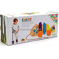 Детская деревянная каталка рыбка-каталка 13630 Cubika (Кубика). Деревянные эко игрушки, фото 5